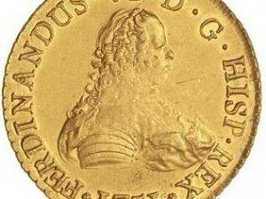 8 escudos de 1751 ceca de Santiago I