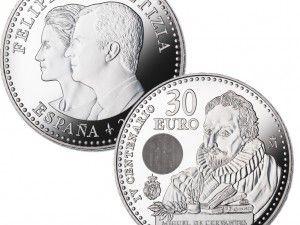 El Quijote en los euros españoles