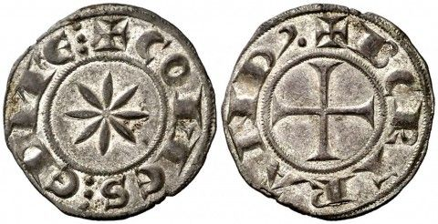 Bertran d'Urgell (1150-1207). Comtat d'Embrun. Diner. (Cru.V.S. 183.1) (Cru.C.G. 2043a). 0,83 g. Bella. Parte de brillo original. Rara y más así. EBC+.